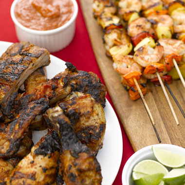 Grilled Chicken and Ribs