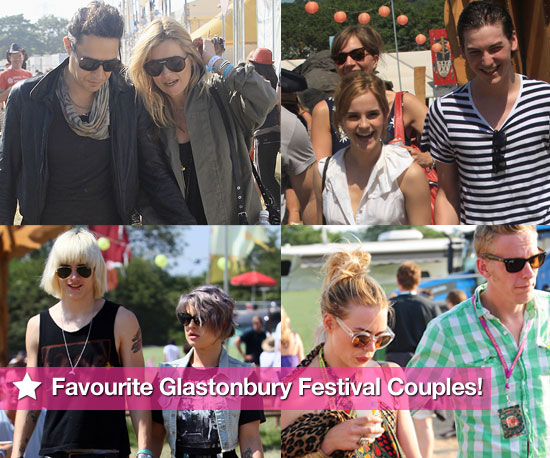 Famous Couples at Glastonbury Festival 2010 Including Kate Moss, Emma Watson, Billie Piper, Kelly Osbourne, Lily Allen