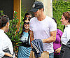 Slide Picture of Fergie and Josh Duhamel Having Lunch in LA