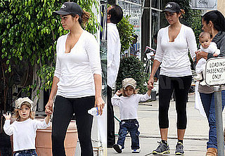 Pictures of Camila Alves With Levi and Vida McConaughey in LA