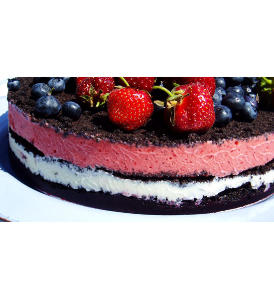 Red, White, and Blue Ice Cream Cake