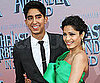 Slide Picture of Dev Patel and Freida Pinto at The Last Airbender Premiere