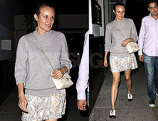Pictures of Diane Kruger Out to Dinner With Friends