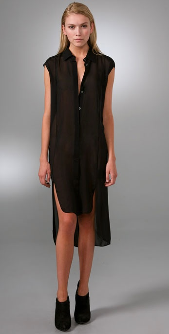 Alexander Wang Elongated Sleeveless Shirt ($425)