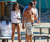 Slide Picture of Cindy Crawford and Rande Gerber at Raging Waters Park