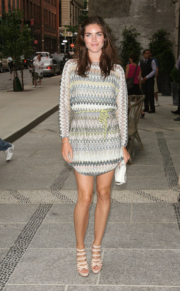Hilary Rhoda is so fresh in this Missoni mini; those banded nude sandals are delish.