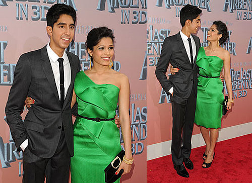 Pictures of Dev Patel and Freida Pinto Plus Jackson Rathbone and M Night Shyamalan at Last Airbender Premiere