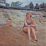 1961 Mom and son spent some time on the beach on June 23, 1961. Source: Flickr User fuzzyjay