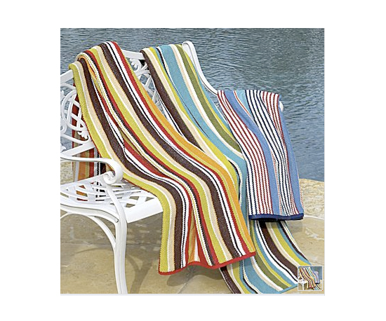 Quick Dri Stripe Beach Towel