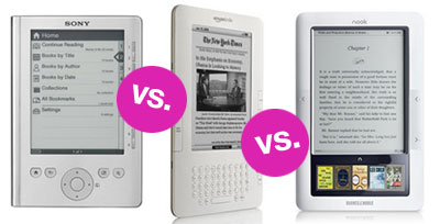 Sony Reader vs. Kindle vs. Nook 2010-07-06 05:47:56
