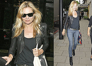 Pictures of Kate Moss Arriving at the Dorchester Hotel in London