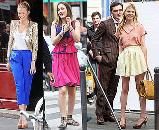 Pictures of Ed Westwick, Clemence Poesy, Blake Lively, Leighton Meester Filming Gossip Girl in Paris