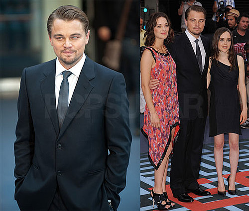 Leonardo DiCaprio on Inception Red Carpet With Ellen Page, Marion Cotillard, and More 2010-07-08 14:34:28