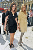 Julia Restoin-Roitfeld and Carine Roitfeld outside Giorgio Armani Prive show.