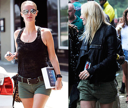 Photos of Nicky Hilton and Gwyneth Paltrow in Khaki Shorts for Summer 2010