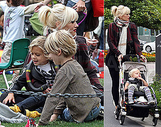 Gwen Stefani Bundles Up For a Day Out With Kingston and Zuma