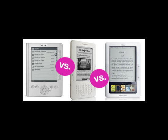 Sony Reader vs. Kindle vs. Nook