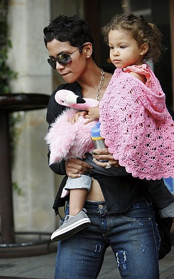 Halle Berry grabs lunch at Bare Foot Restaurant in West Hollywood with daughter Nahla Ariela Aubry