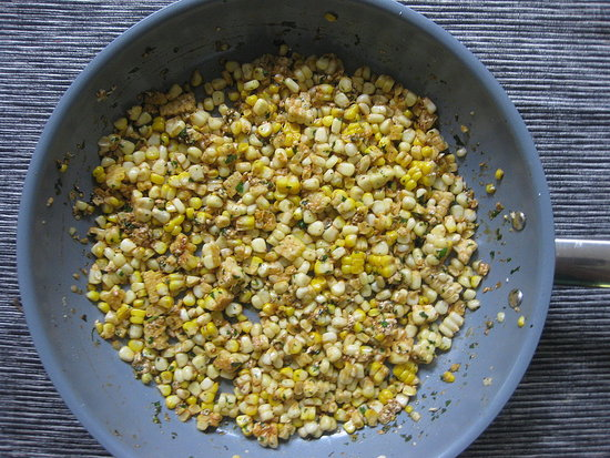 A crunchy, salty, and sweet corn and cotija salad side just might steal the show.