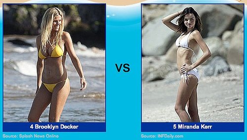 Celebrity Bikini Pictures in the 2010 Bikini Bracket Round Two