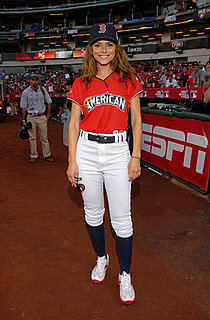 Pictures of Maria Menounos, Jon Hamm, and Mario Lopez at Taco Bell All-Star Legends and Celebrity Softball Game