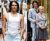 Pictures of Russell Brand and Helen Mirren Laughing on Set of Arthur