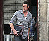 Slide Picture of Hugh Jackman Leaving Set in Detroit