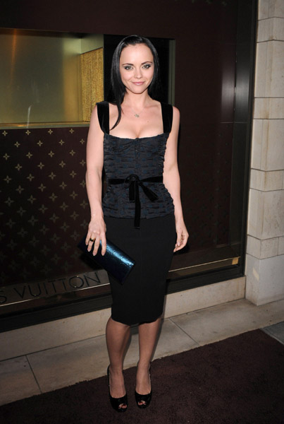 Christina Ricci was a sassy lady in head-to-toe Louis Vuitton. Cool and classic.