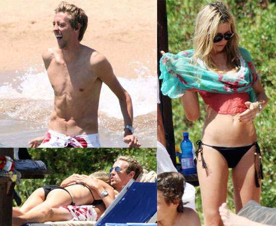 PIctures of Abbey Clancy in a Bikini on the Beach in Sardinia With Shirtless Footballer Fiance Peter Crouch