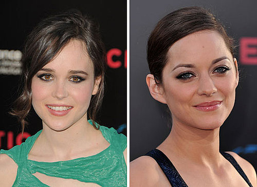 Ellen Page and Marion Cotillard Wear Smoky Eyes at the LA Premiere of Inception