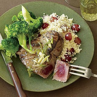 Fast and Easy Recipe For Tuna Steaks With Broccoli and Couscous