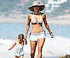 Slide Picture of Halle Berry in a Bikini and Nahla on the Beach