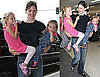 Pictures of Jennifer Garner With Violet and Seraphina at LAX 2010-07-16 14:00:00
