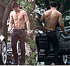 Shirtless Taylor Lautner Pictures Filming Abduction