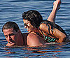 Slide Picture of Channing Tatum and Jenna Dewan Swimming in Ischia