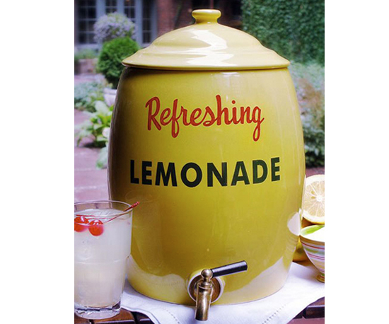 Ceramic Lemonade Crock