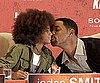 Slide Picture of Will and Jaden Smith at Press Conference in Germany