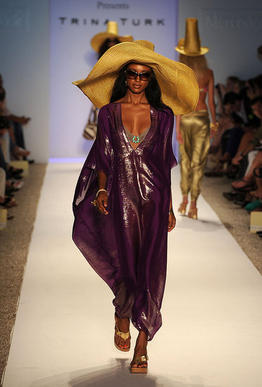 Just one of Trina Turk's elaborate luxe cover-ups. Mmm, metallic purple.