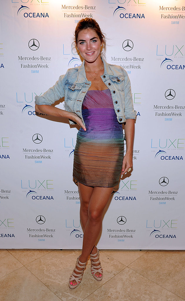 Hilary Rhoda, beachy keen in Alice + Olivia.