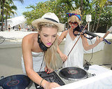 Lady DJs in white.