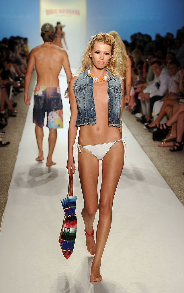 A denim alternative at True Religion Swimwear.