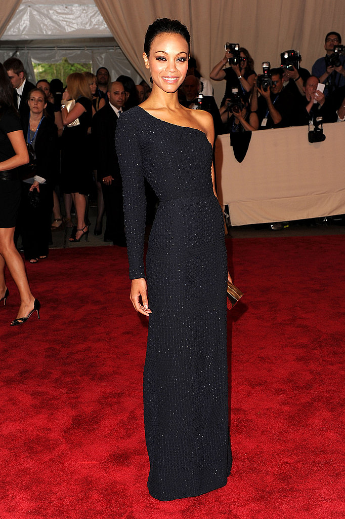Zoe donned textural Calvin Klein the Met's Costume Institute Gala this year — did you love it or hate it?