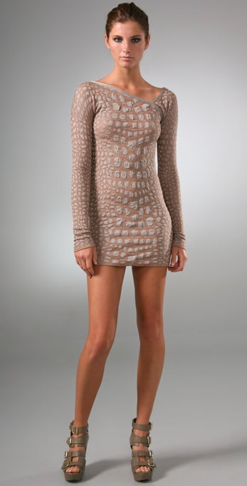 M Missoni Crocodile Intarsia Mini Dress ($595)