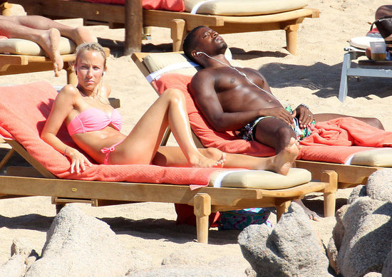 Pictures of Shirtless Patrice Evra and Wife in Bikini