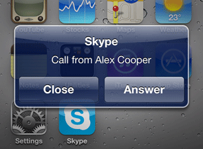 New Update For Skype iPhone App