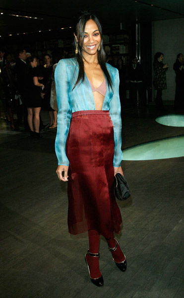 Eccentric Zoe wearing Prada at a Prada party in '09 — which Prada girl do you prefer?