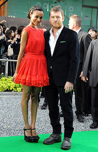 Zoe looked supercute in a tomato-red flippy dress by Giambattista Valli at the 22nd Tokyo International Film Festival opening ceremony in '09 — get a similar look.
