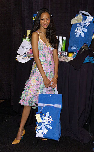 Zoe in ruffled floral tiers at Hollywood Life's Young Hollywood Awards in '04.