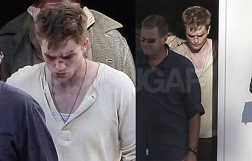Pictures of Robert Pattinson Filming Water For Elephants 2010-07-22 07:45:00