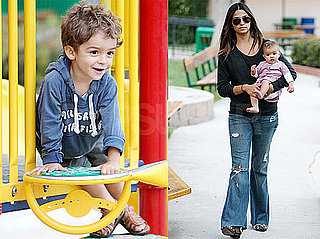 Pictures of Levi and Vida McConaughey Playing at the Park With Camila Alves